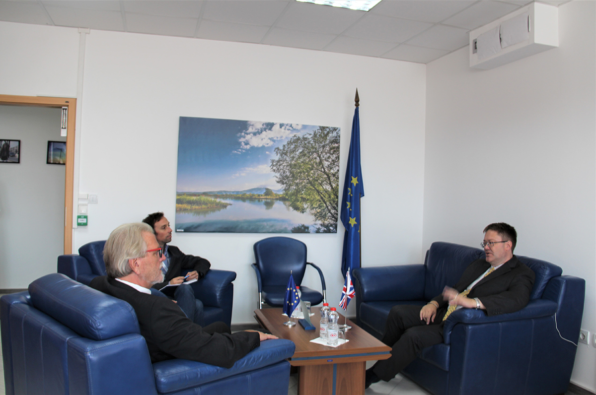 EULEX Acting Head of Mission welcomed the new British Ambassador to Kosovo