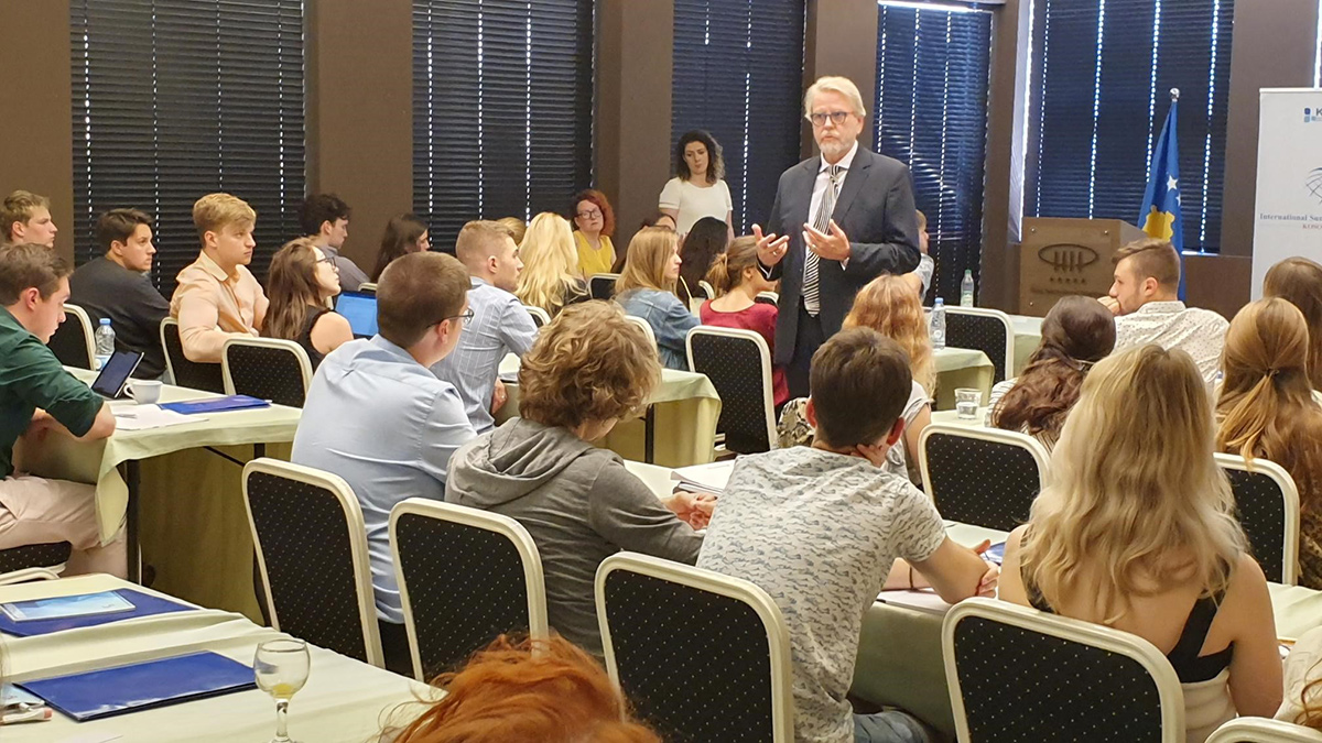 "Acting Head of Mission gives lecture to ""Kosovo International Summer Academy"" students"