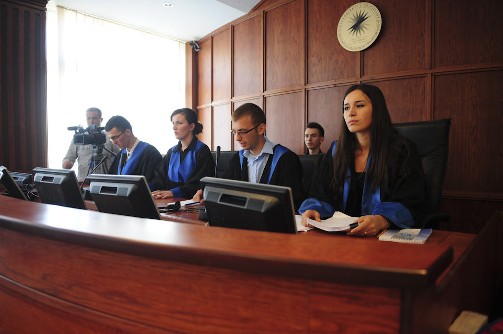 EULEX Judges And Prosecutors In A Mock Trial With Law Students
